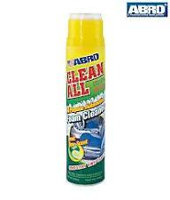 ABRO CLEAN ALL  FOAM CLEANER 650ml CAR SEAT,FABRIC,VINYL,UPHOLSTERY,CARPET-