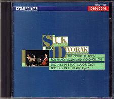 Josef Suk: Dvorak pianoforte Trio no. 1 2 DENON Giappone CD 1987 pianoforte Trio Jan PANENKA