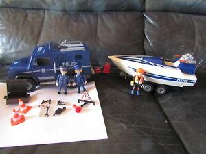 Playmobil Polizeitruck mit Speedboot 5187