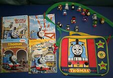 15 Thomas & Friends Minis + Soft Carrying Case/Lunch Box + 4 Little Golden Books