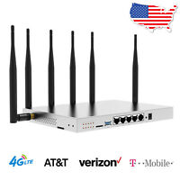 4G LTE WiFi Router AT&T Verizon SIM Card T-Mobile Industrial 1200Mbps Hotspot US
