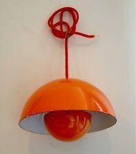 PANTON Verner - Lampe / Suspension FLOWER POT orange 1970 originale