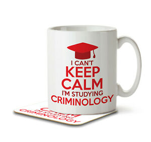 I Can't Keep Calm I'm Studying Criminlogy - Mug and Coaster by Inky Penguin
