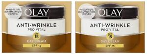 2 x Olay Anti-Wrinkle Pro Vital Spf15 Day Cream (2 x 50ml)