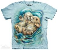 A Love Like No Otter T-Shirt by The Mountain. Sea Ocean Mammal Sizes S-5X NEW