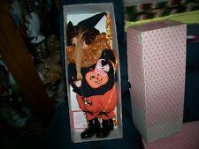 "New in Box, Old Stock Brinn's Calendar Doll Clown October ""Trick or Treat"","