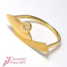 Ring 750/18K Gelbgold - Brillant 0,03 ct TW/SI - 2,8 g - Gr. 56 - UNGETRAGEN
