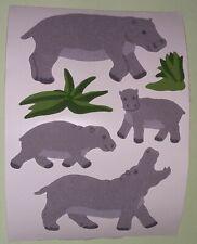 🦁🍀Sandylion BIG Nilpferde Stoff Fuzzy   Scrapbooking Sticker🍀🦁