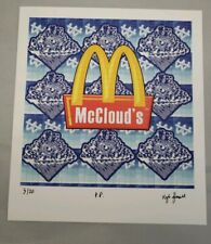 """Kyle Damon James signed """"McClouds"""" blotter art tribute to Godfather of blotter"""