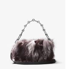 NEW MICHAEL KORS COLLECTION Julie Large Fox Fur and Leather Camera Bag-Handbag*