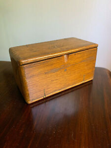Antique Singer Sewing 1889 Oak Puzzle Box *most attachments included