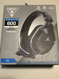 Turtle Beach Stealth 600 Black and Blue Headband Headsets for PS4 & N Switch New