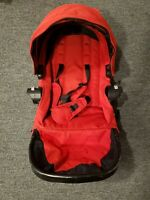 Baby Jogger City Select Second Seat Red Seat Only Very Good. Black Frame