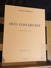 Darius Milhaud Duo concertant pour clarinette et piano partition éditions Heugel