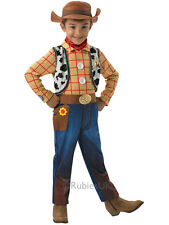 Child 3-4 Yrs Woody Deluxe Outfit & Hat Fancy Dress Costume Toy Story Cowboy