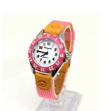 Quartz Watch Kids Children's Fabric Strap Student Watches Wristwatch Gifts Pink