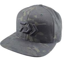 Daiwa D-Vec Camo Green Flatbill Cap Snap Dark Green Camouflage Bass Fishing Hat