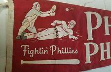 "Philadelphia Phillies ""Fightin Phillies"" - Antique Baseball Pennant - Full Size"