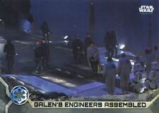 Star Wars Rogue One Series 2 Gray Base Card #32 Galen's Engineers Assembled