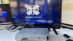 Sony Original Silver Playstation 2 Complete set-up Bundle PS2 Console