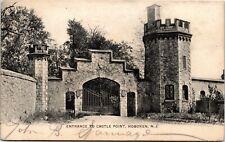 Postcard NJ Hoboken Hudson County Entrance to Castle Point 1905 M30