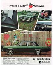 1967 Plymouth Valiant Signet Green 4-door Sedan Car Automobile Vtg Print ad