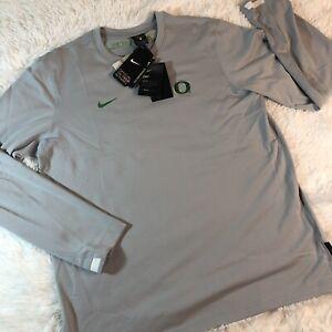 Nike $75 Oregon Ducks On-Field Dri-Fit Training Long Sleeve Shirt Sz L CQ5058