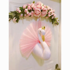 Swan Stuffed Animals Cloth Dolls Toys for Girls Baby Nursery Decor 3D Wall kid