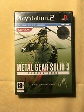 Sony Playstation 2 PS2 Complete Metal Gear Solid Subsistence PAL