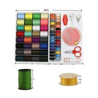 1Set Sewing Kit Measure Scissor Thimble Thread Needle Tape with Storage Box