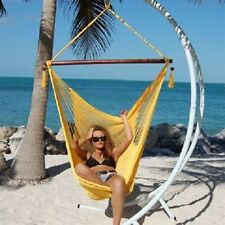 "LARGE CARIBBEAN INDOOR/OUTDOOR ROPE SWING HAMMOCK CHAIR, 47"" SPREADER BAR"