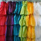 Ruffle Fabric  Shower Curtain  Assorted Color