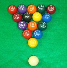 """Miniature Mini Pool Ball Sets 16 Balls 1-1/8"""" FREE SHIP Games Billiards BrandNEW"""