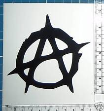 10cm ANARCHY decal sticker.Skateboard,Surf,Motorbike,Car,Boat graphic.26colours