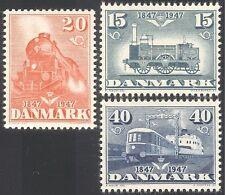 Denmark 1947 Trains/Steam Engine/Locomotives/Railways/Rail/Transport 3v (n37308)