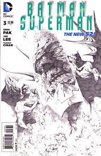 BATMAN SUPERMAN #3 - New 52 - B&W VARIANT COVER 1:100