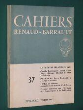 Cahiers RENAUD-BARRAULT n° 37 LE THÉÂTRE IRLANDAIS