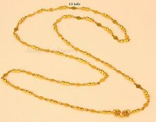 "22K 22kt gold necklace from Thailand 22""  #76"