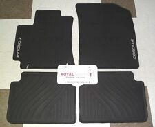 Toyota Corolla 2009 2013 Factory All Weather Rubber Floor Mats Genuine Oem Oe