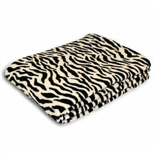Fleece Zebra Print Design Zebra Blanket Throw Large Black & White 140cm x 190cm