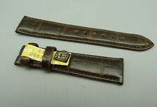 RRKL Orig CHRONOSWISS Leder Armband KROKO Braun brown leather 16mm TOP unbenutzt