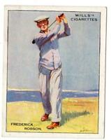 WILL'S CIGARETTES*FREDERICK ROBSON*FAMOUS GOLFERS*#19 OF 25*IMPERIAL TOBACCO CO