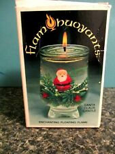 Vintage Nos Christmas Santa Floating Candle Set Flambouyants In Original Box New