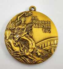 1972 Germany Munich Olympic Medals Set-Gold/Silver/Bronze with Display Stands !!