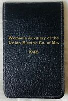 Antique 1945 Advertising Pocket Note Pad Blank Women's Auxiliary Union Electric