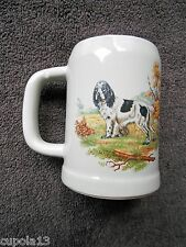 Vintage McCoy COCKER SPANIEL MUG Beer Stein Hunting Family Dog Stoneware Solid