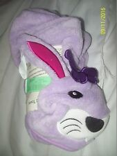 KMart Toddler Young Girls Purple Bunny Hooded Towel-NWT-HTF