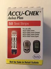Accu-Chek Aviva PLUS 50 Strips Expire 11/17 DIABETIC Blood Glucose test FASTSHIP