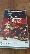 THE TAMING OF THE SHREW - ELIZABETH TAYLOR. RICHARD BURTON - VHS VIDEO