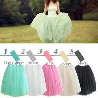 Women's Elastic Waist Multi-layer Tulle Tutu Bouffant Ball Gown Skirt 5 Colors